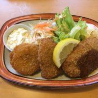 成田市飯田町の洋食レストラン味楽亭でボリューム満点のミックスフライ定食