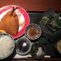 千葉駅西口ランチ 浜包丁の名物ランチ!なめろう付きのアジフライ定食
