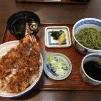 千葉中央 銀座通りにある茶そばの老舗「阿づ満庵本店」でランチ