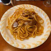 中央区富士見 パンコントマテ千葉店 昔ながらのナポリタン 2.5mmの極太スパゲティはモチモチな食感と濃厚ソースがたまらない!